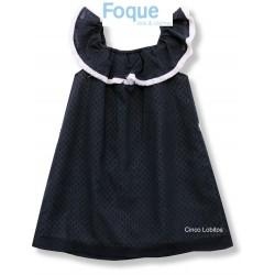 Vestido plumeti azul marino colección As de Guía de Foque