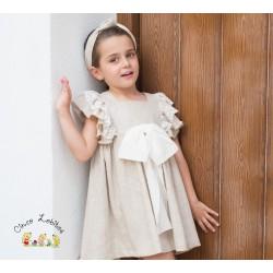 Vestido lino colección Linen de EVE Children