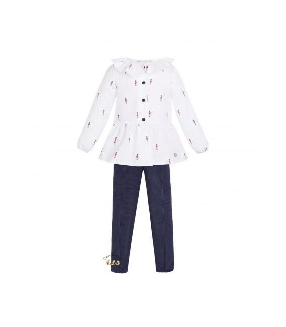 Conjunto de pantalón de niña de la colección British de EVE Children
