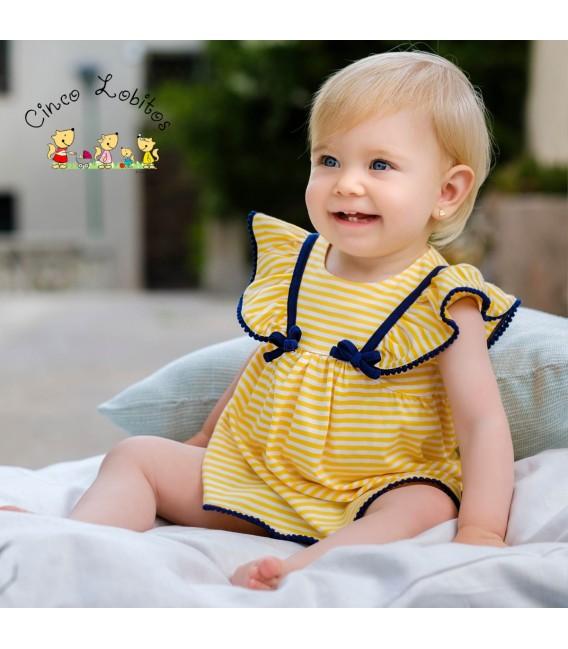 Vestido con braguita amarillo de Tutto Piccolo