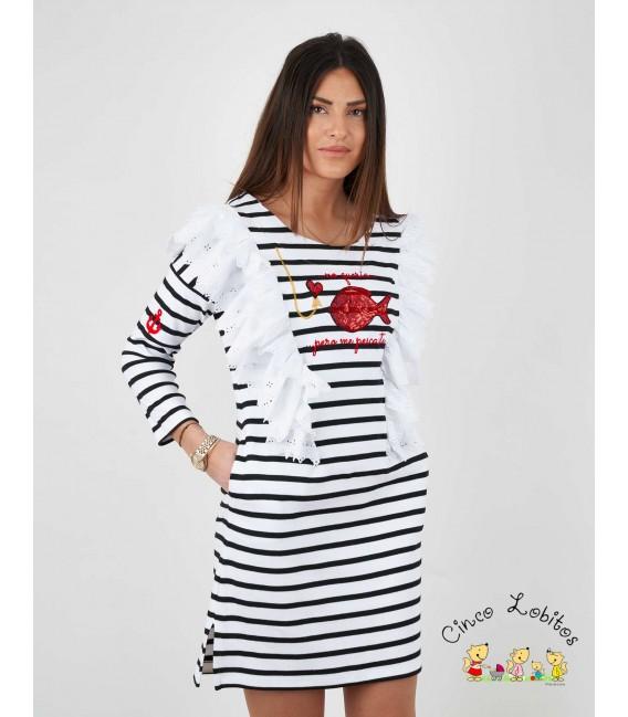 Vestido mujer PEZ de Anabel Lee