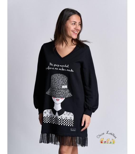 Vestido PAZ MENTAL de Anabel Lee